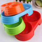 3 colors Pet Dog Cat Food Water Dish Feeder Bowl Plastic Pets Dogs Cats Bowl