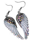 bling earrings - Angel wings dangle earrings women her biker bling jewelry gift gold silver EC23