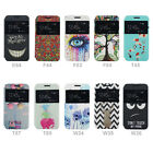 For Multi Lenovo Model Art Flip PU Leather View Window Stand Flip Case Cover