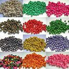 Qty 300 - 6mm x 5mm Round Wooden Beads Multi Colour Listing