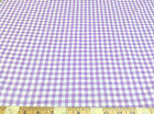( Swatch sample)Top Weight Cotton Shirting Apparel Gingham Purple 024CT