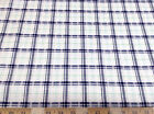 Discount Fabric Quilting Cotton Navy Blue and Green Plaid 034CT