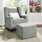 Gray Rocking Chair Nursery Furniture Baby Kids Relax Rocker Chairs