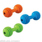 JW PET CHOMPION DOG TOY - S/M/L Rubber Barbell Dumbbell Fetch Bouncy Non-Toxic