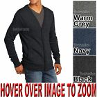 Mens Blended Cardigan Sweater with Side Pockets XS-XL 2XL, 3XL, 4XL NEW!