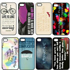 Inspirational Quote For Life Love Hard Plastic Case For iPhone 4 4S 5 5S 5C