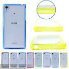 Two Tone Acrylic Transparent Ultra Thin Back Skin Case Cover For Sony Xperia Z2