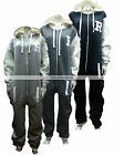MENS LADIES UNISEX GIRLS R BASEBALL VARSITY HOODED ONESIE JUMPSUIT S M L XL XXL
