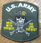War Patch US Army Mess with the Best Die Like Rest Skeleton