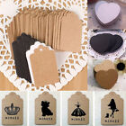 100pcs Blank Brown Kraft Paper Hang Tags Wedding Party Favor Label Gift Cards