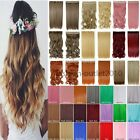 New Long Straight Wavy One Piece Half Full Head Clip in Hair Extensions fo