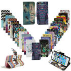 Flip Leather Stand Card Holder Printed Wallet Hard Case Cover For Samsung Galaxy