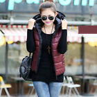 FASHION Winter Sleeveless Womens Hooded Vest Cotton Padded Waistcoat CA LA