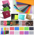 """Rubberized Laptop Hard Case+Keyboard Cover for Macbook Pro13""""15""""Retina Air 11""""13"""