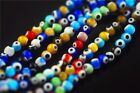 Pretty 6mm 8mm 10mm Round Colorized Eyes Millefiori Glass Spacer Beads Finding