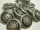 New lots Silver Metal Military Buttons crested 5/8, 11/16, 13/16, 7/8, 1inch #SN