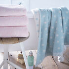 Catherine Lansfield Home Polka Dot 100% Cotton Jacquard Bath Towel