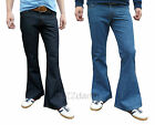 mens denim bell bottom flares jeans flared vtg 60s 70s