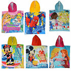 Disney & Kids Character Hooded Bath Beach Holiday Poncho Towel Brand New Gift