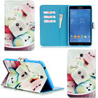 "For Samsung Galaxy Tab A 8.0"" SM-T350 Smart Pattern Wallet PU Leather Case Cover"