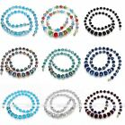 """Fashion Rhinestone Spacer Beaded Graduated Crystal Glass Women Necklace Gift 19"""""""