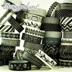 Paper Washi Masking Tape Adhesive Roll Decorative Card Craft Trim BLACK & WHITE