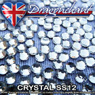 1 GROSS CRYSTAL SS12 IRON ON HOTFIX RHINESTONES QUALITY DIAMOND GEMS CRAFT BEADS