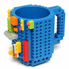7 Colors Creative Fun Diy Block Puzzle Build-on Brick Mug Building Blocks Mug