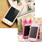 Hot Cute Cat Ear Design Silicone Skin Back Cover Case For iphone 4G 4S 5G