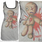 LONG VEST TANK TOP VOODOO DOLL GOTH EMO ALTERNATIVE