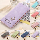 GIFT Women Lady Vintage Matte Leather Slim Card Clutch Long Purse Wallet Handbag