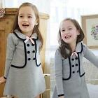 Lovely Kid Baby Slim Outwear Dress Cozy Child Girl Pullover Jacket Tops 2-7Y B57