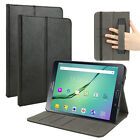 Leather Case Cover w/ Hand Strap & Card Holder For Samsung Galaxy Tab S2 8.0/9.7