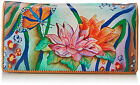 New Anuschka™ Zebra Garden, Hand Painted Leather Organizer Wallet