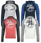 Smith & Jones Men's Hooded Sweatshirt Titanium Fleece Hoodie Red Grey Blue Top