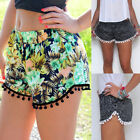 Floral Loose Tassel Bohemian National Style Shorts Casual Summer Hot Beach Pants