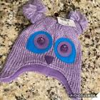 CHILD 6-12 12-24 MONTHS 2-4 YEARS PURPLE OWL KNIT EARFLAP HAT CHILDRENS PLACE