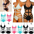 Sexy Women One Piece Bikini Monokini Bandage Push Up Strappy Bathers Swimsuit FO
