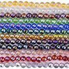 8mm 10mm Crystal Glass Faceted Round Loose Charm Beads Craft Jewelry Finding DIY