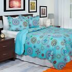 Twin Size Lightweight Quilt Bedspread Colorful Options Peace