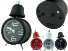 Metal Single Bell 8cm Analog Alarm Clock with Light Large Number Markings