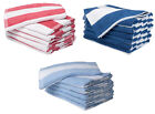 100% Cotton Pool Towels Chlorine Resistant Striped Holiday Beach Bath Health Spa