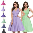 CHEAP 1950S 60S SWING PIN UP PARTY RETRO VINTAGE PROM PLUS SIZE DRESS