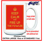 "FOWLER (steam traction ploughing engine roller) funny ""Keep Calm"" MUG rally gift"