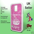 Pink Personalised Crown Princess Samsung Galaxy Case Phone Cover