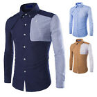 2015 New Mens Casual Shirt Slim Fit Stylish Dress Shirts Long Sleeve Men's Tops