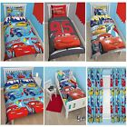 DISNEY CARS DUVET COVER SETS IN SINGLE, DOUBLE AND JUNIOR SIZES BOYS BEDROOM