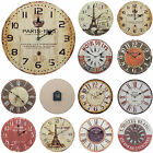 Shabby Chic Large 34cm Thin Distressed Rustic Wall Clock Paris Urban Design