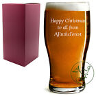 Personalised 1 Pint Tulip Beer Lager Glass Sleever Engraved Christmas Xmas Gift