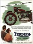 Vintage Triumph Motorcycle Advertisement Poster A3/A2/A1 Print